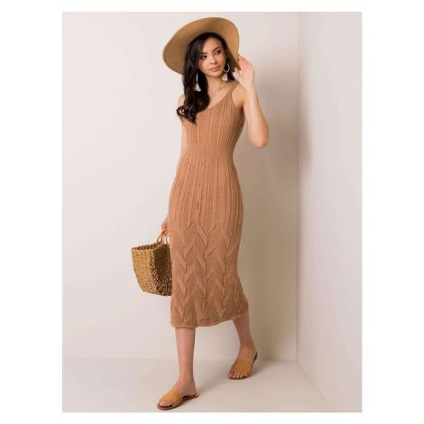 RUE PARIS Beige knitted dress Fashionhunters
