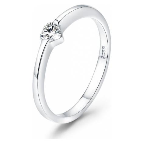 Linda's Jewelry Stříbrný prsten se Zirkonem Love IPR041 Velikost: 59