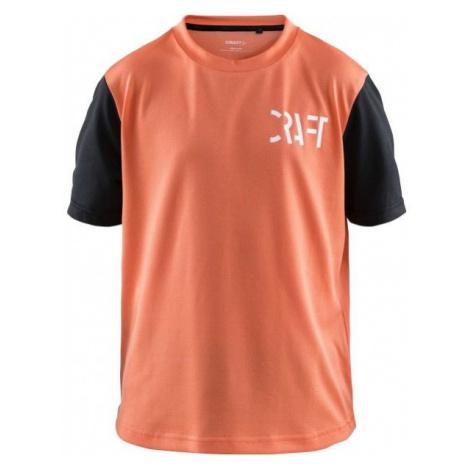 Craft BIKE XT JR oranžová - Dětský cyklistický dres