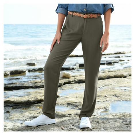 Blancheporte Kalhoty ze vzdušné viskózy khaki
