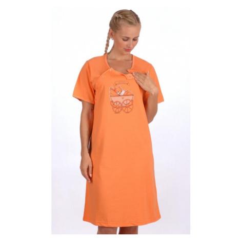 Dámská noční košile mateřská Kočárek, S, tyrkysová Vienetta Secret