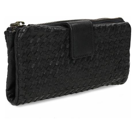 Dámská černá kožená peněženka Baťa
