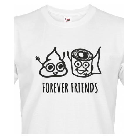 Pánské tričko Forever Friends - vtipný a originální potisk pro rebely BezvaTriko