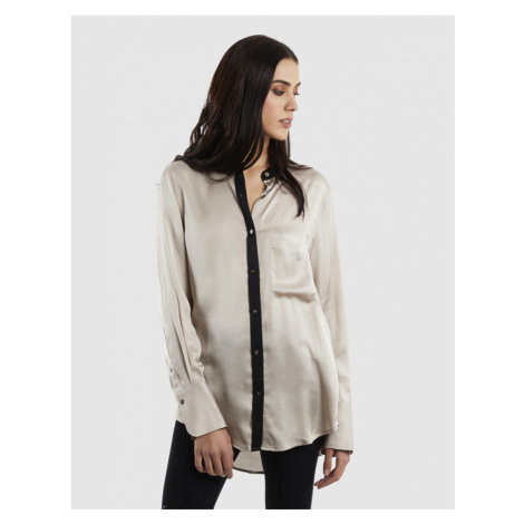 Košile La Martina Woman Shirt Long Sleeves Visco - Šedá