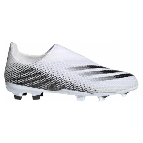 Dětské kopačky adidas X Ghosted.3 Laceless FG Bílá / Černá