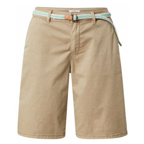 ESPRIT Chino kalhoty světle béžová / bílá / koňaková / nefritová