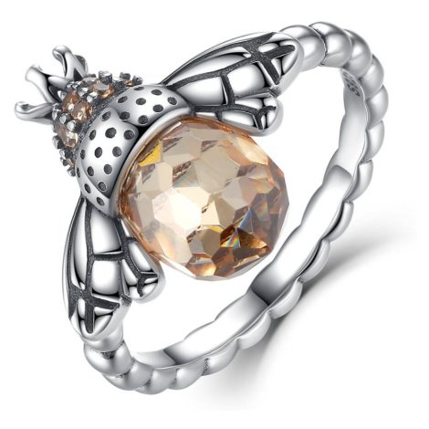 Linda's Jewelry Stříbrný prsten Včelí Královna IPR070 Velikost: 61