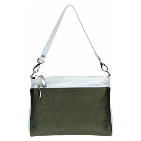 Dámská kožená crossbody kabelka Facebag Lincoln - šedá (metalická)