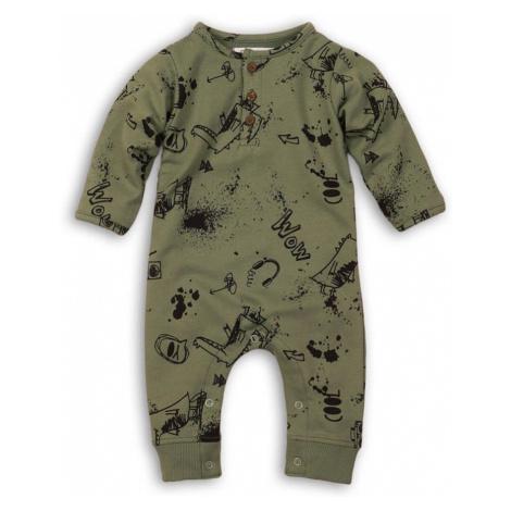 Overal kojenecký bavlněný, Minoti, Yo 4, khaki