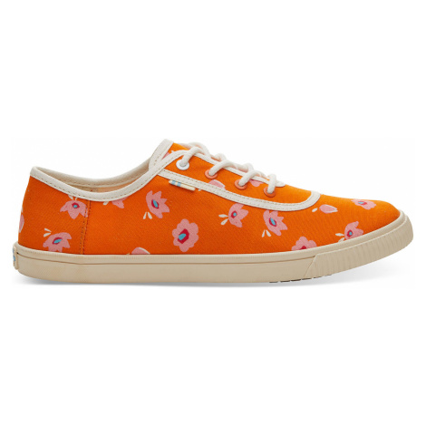 Persimmon Flower Print Women Carmel Sneak Toms