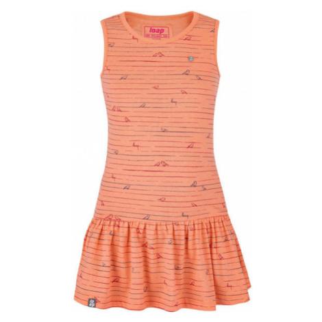 Loap BARISA oranžová - Dívčí šaty