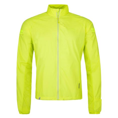 Pánská lehká běžecká bunda KILPI TIRANO-M žlutá