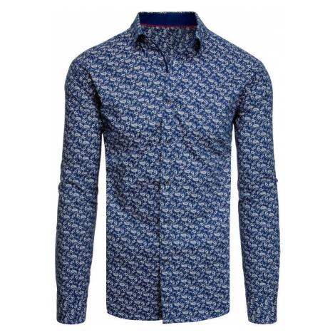 Dstreet Stylová vzorovaná košile v granátové barvě