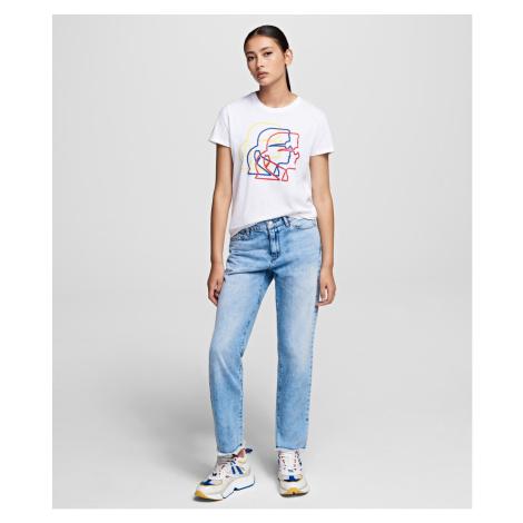 Džíny Karl Lagerfeld Straight Leg Denim - Modrá