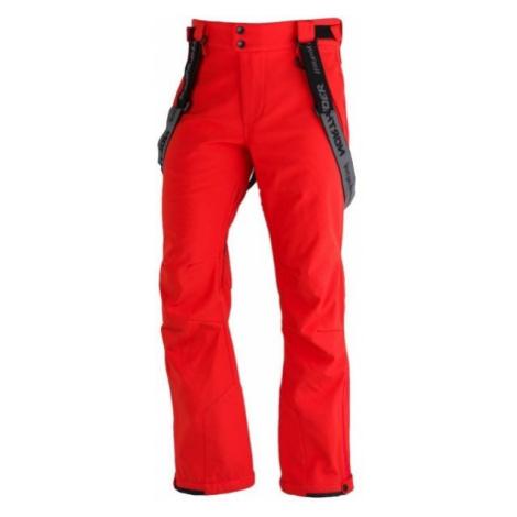 Northfinder LUX červená - Pánské softshelllové kalhoty na lyže