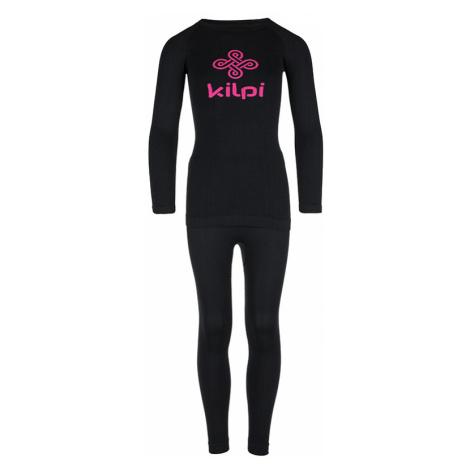 Dětské termoprádlo KILPI CAROLINE-JG černá