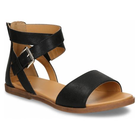 Černé dětské kožené sandály Bullboxer