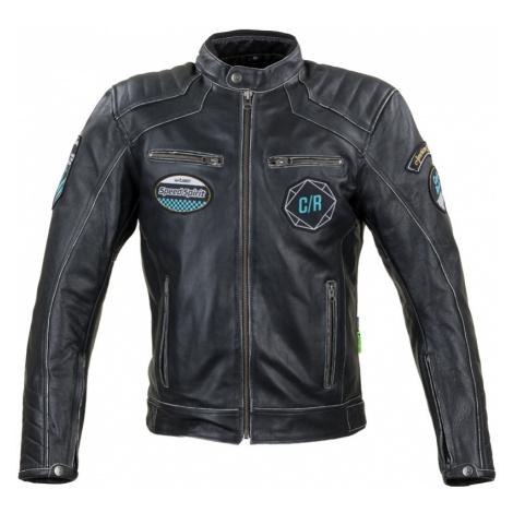 Kožená Moto Bunda W-Tec Losial Černá