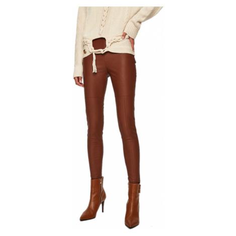 Hnědé kalhoty z eko-kůže - PINKO
