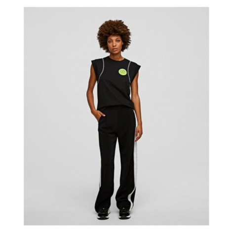 Kalhoty Karl Lagerfeld Cady Pants W/ Logo Tape - Černá
