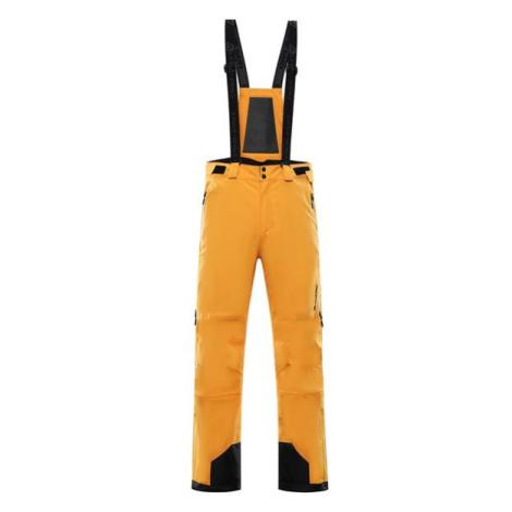 ALPINE PRO Nudd 6 Žlutá / Hnědá Pánské Lyžařské Kalhoty S Membránou Ptx MPAS475231