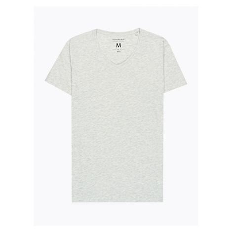GATE Základní tričko slim fit s véčkovým výstřihem
