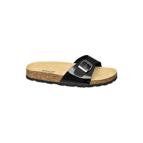 Černé pantofle Graceland