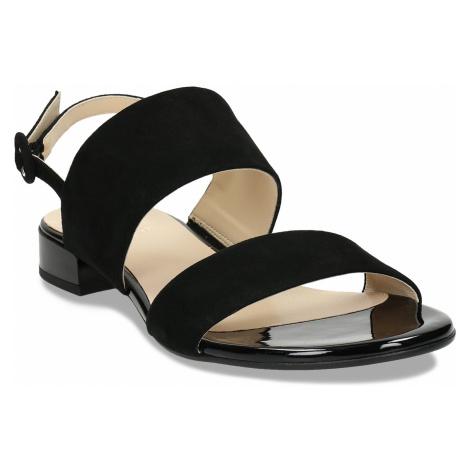 Dámské kožené černé páskové sandály Högl