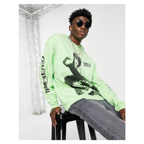 ASOS DESIGN Cowboy Bebop sweatshirt in green
