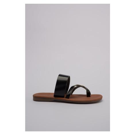 Trendyol Genuine Leather Black Women's SlippertakS20TE0092