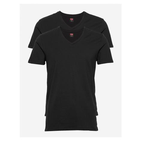 2PACK pánské tričko Levis V-neck černé (905056001 884) Levi´s