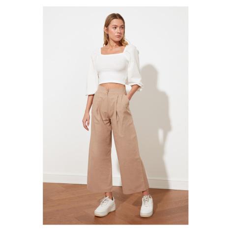 Trendyol Camel Wide Leg Trousers
