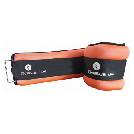 Sveltus Weighted cuffs 1,5 kg - one pair Oranžová