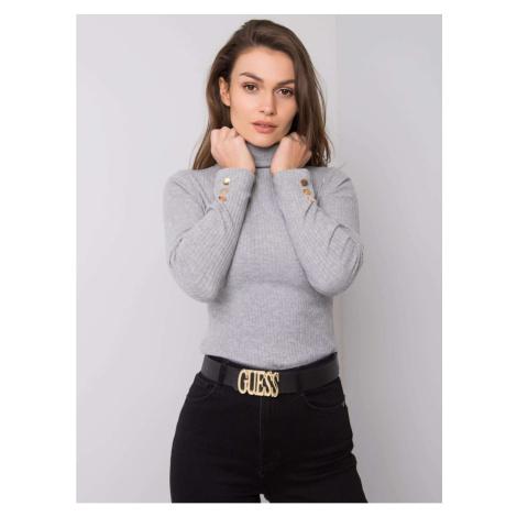 Gray turtleneck blouse Fashionhunters