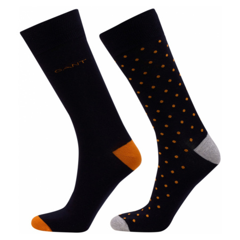 PONOŽKY GANT D1. DOT AND SOLID SOCKS 2-PACK
