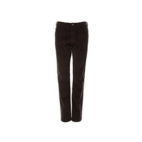 Manžestrové kalhoty Wrangler Arizona pánské černé