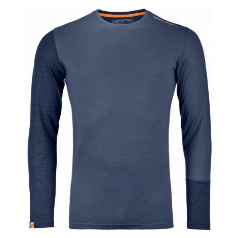 Pánské tričko Ortovox 185 Rock´n´Wool LS night blue blend