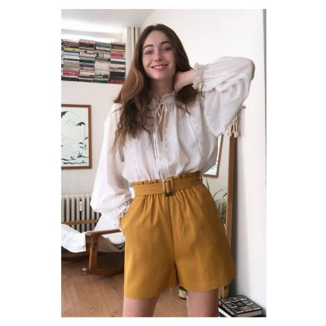 Trendyol Camel Striped Shorts & Bermuda