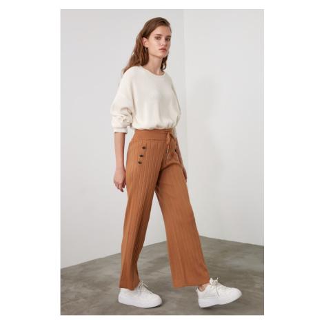 Trendyol Camel Button Detailed Knitwear Pants