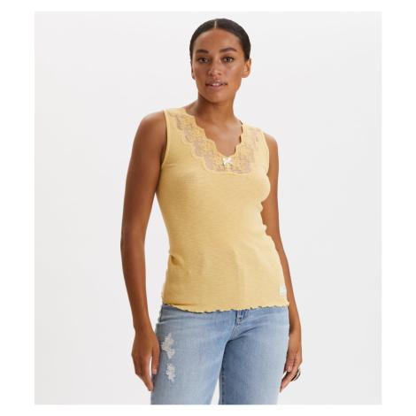 Tričko Odd Molly Rib-Eye Tank - Žlutá