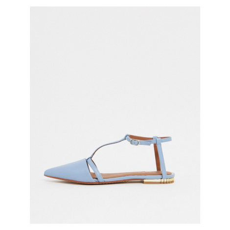 Reiss olivia pointed ballet flats in blue