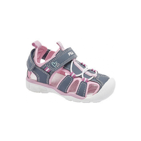 Fialovo-růžové dětské sandály Fila