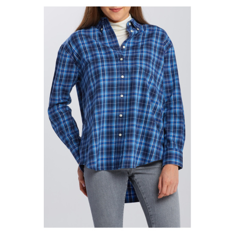 KOŠILE GANT D2. FLANNEL CHECK RELAXED SHIRT
