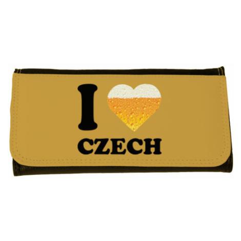 Peněženka velká I love czech beer