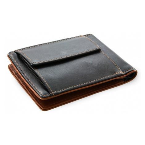 Černo hnědá pánská kožená peněženka - dolarovka Angelica Arwel