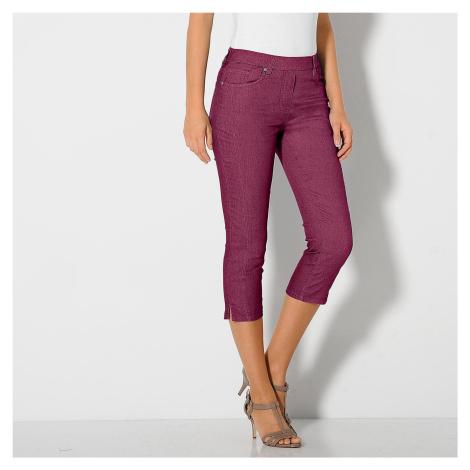 Blancheporte Strečové korzárské kalhoty purpurová