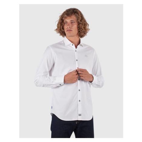Košile La Martina Man Oxford Shirt L/S - Bílá