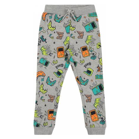 Guppy Kalhoty 'DION' šedá / tyrkysová / oranžová / svítivě žlutá / černá