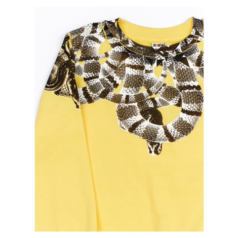 Yellow boy´s sweatshirt with print Fashionhunters