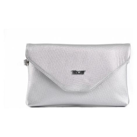 BRIGHT Společenská kabelka Stříbrná, 24 x 13 x 15 (BR18-AA2009-25SYN)